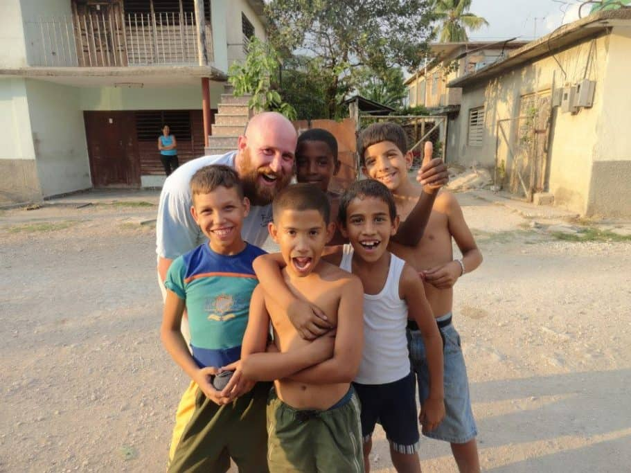 Chris in Cuba with Kids