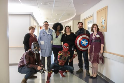 The superheroes and a team of doctors and nurses who fight pediatric cancer