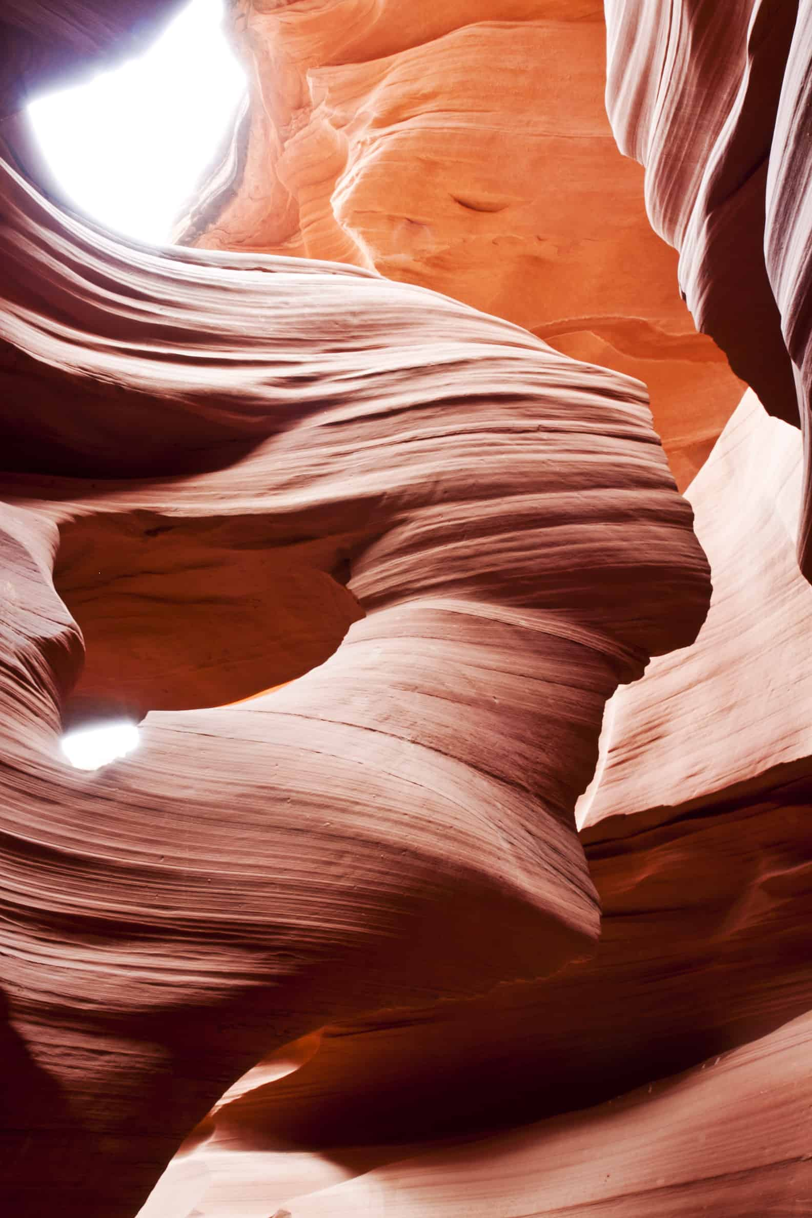 Twisting rocks Forms a Shape of a Girl in the Slot Canyon