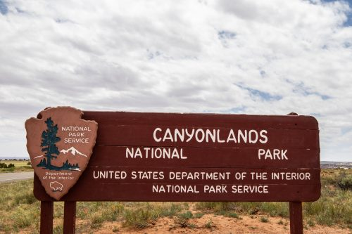Image of Canyonlands National Park sign