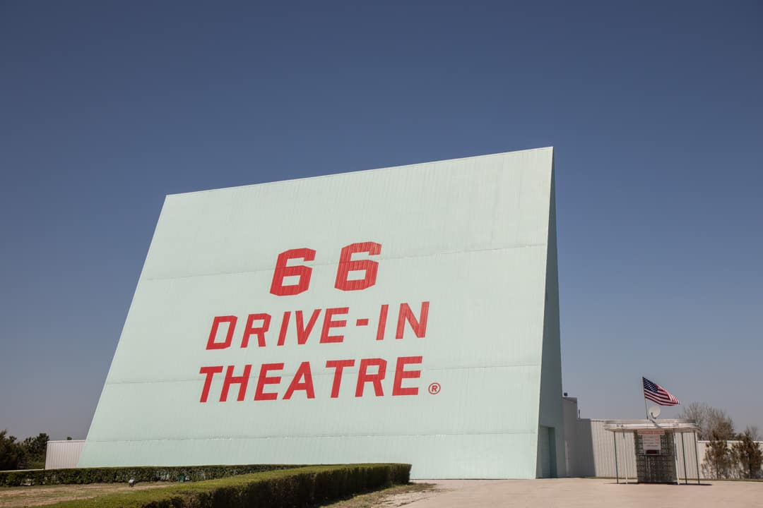 A drive in theater along Route 66