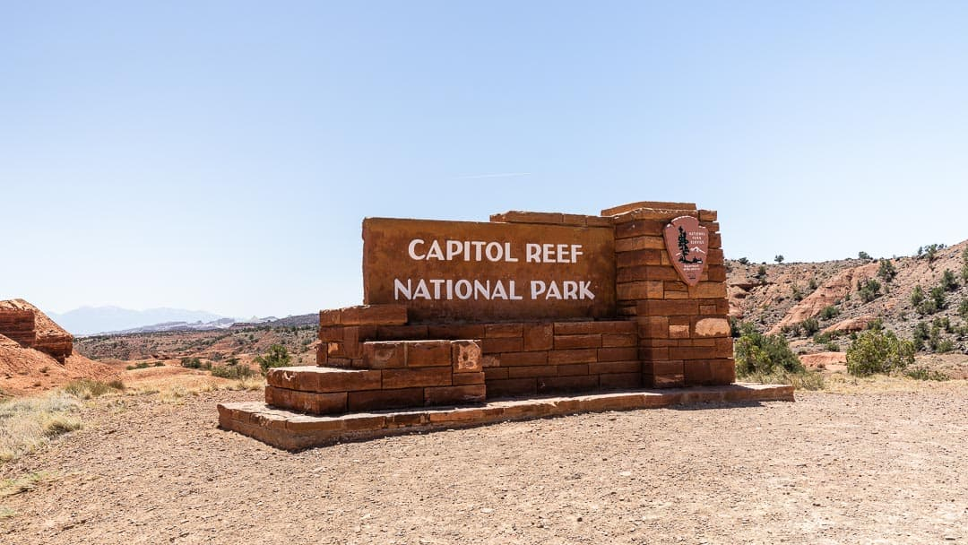 Image of Capitol Reef National Park sign