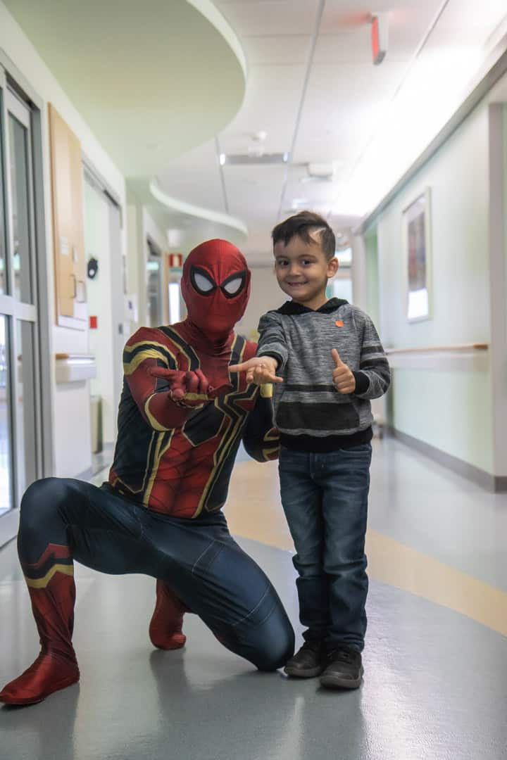 Spiderman and one of his biggest fans