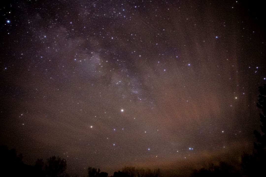 The Milky Way Galaxy is nearly always visible in Palo Duro Canyon