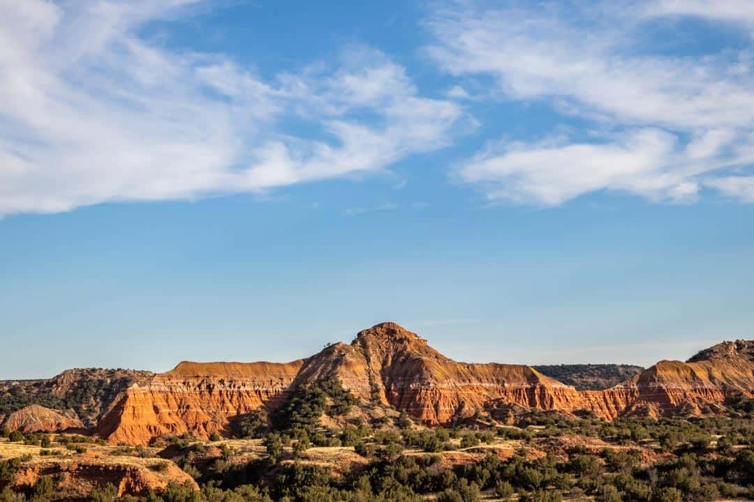 A view of the canyon when you visit Palo Duro Canyon, Texas