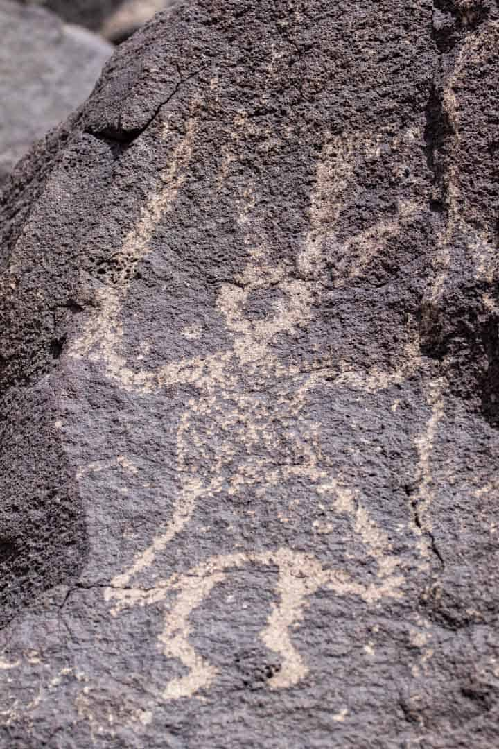 Petroglyphs of a Dancing Woman