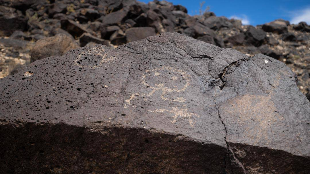 Many of the petroglyphs were hard to recognize. But this most clearly represents a human face.