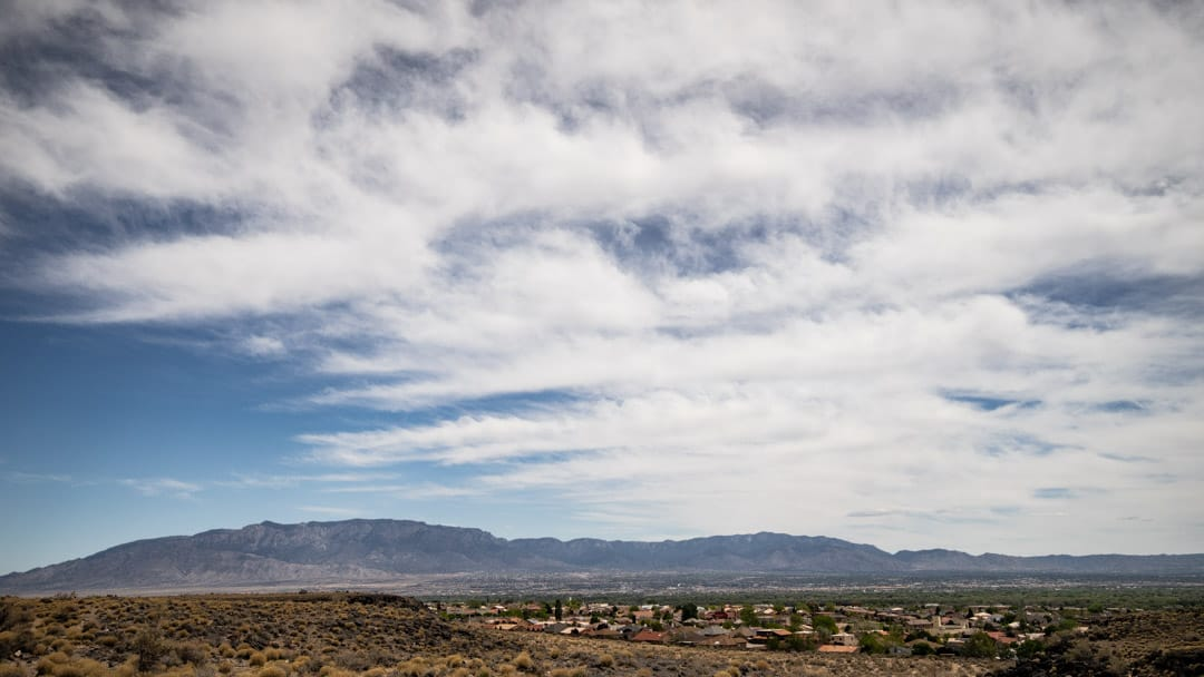 A suburb of Albuquerque nestled into the desert along Petroglyph National Monument