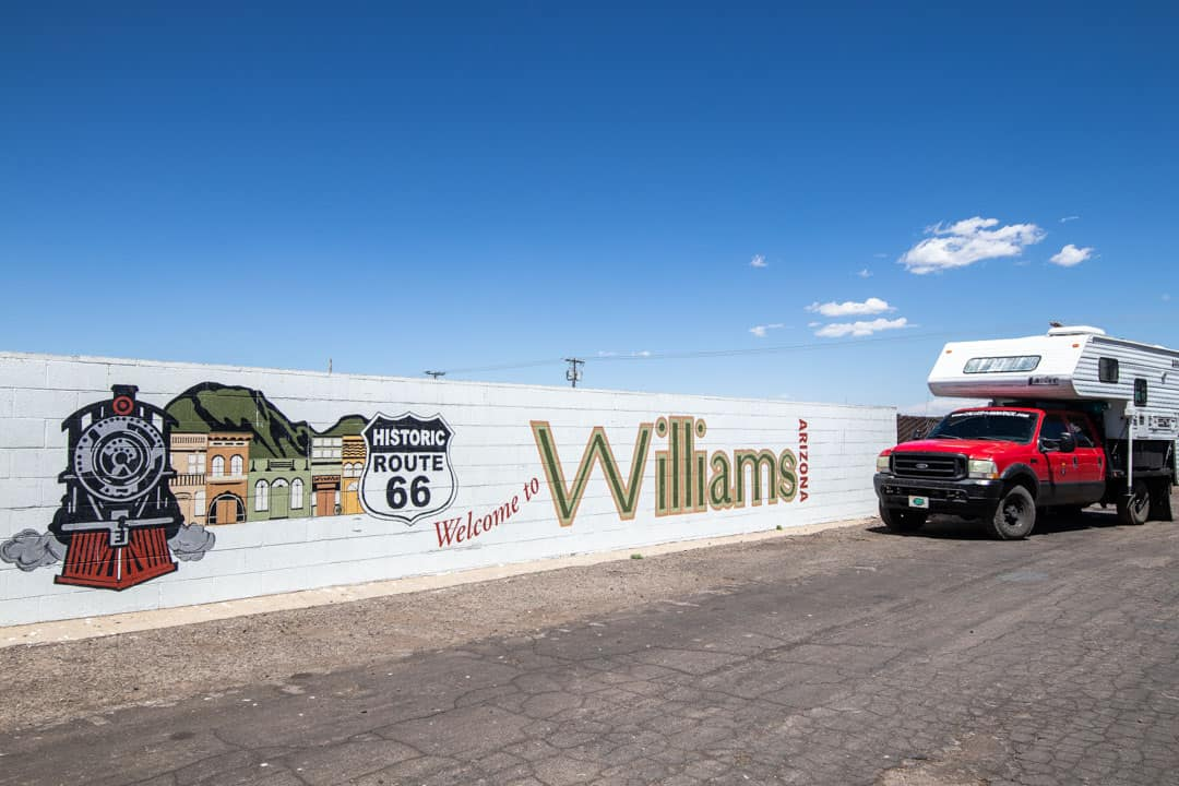 Historic small town Williams, AZ is considered the gateway to the Grand Canyon.