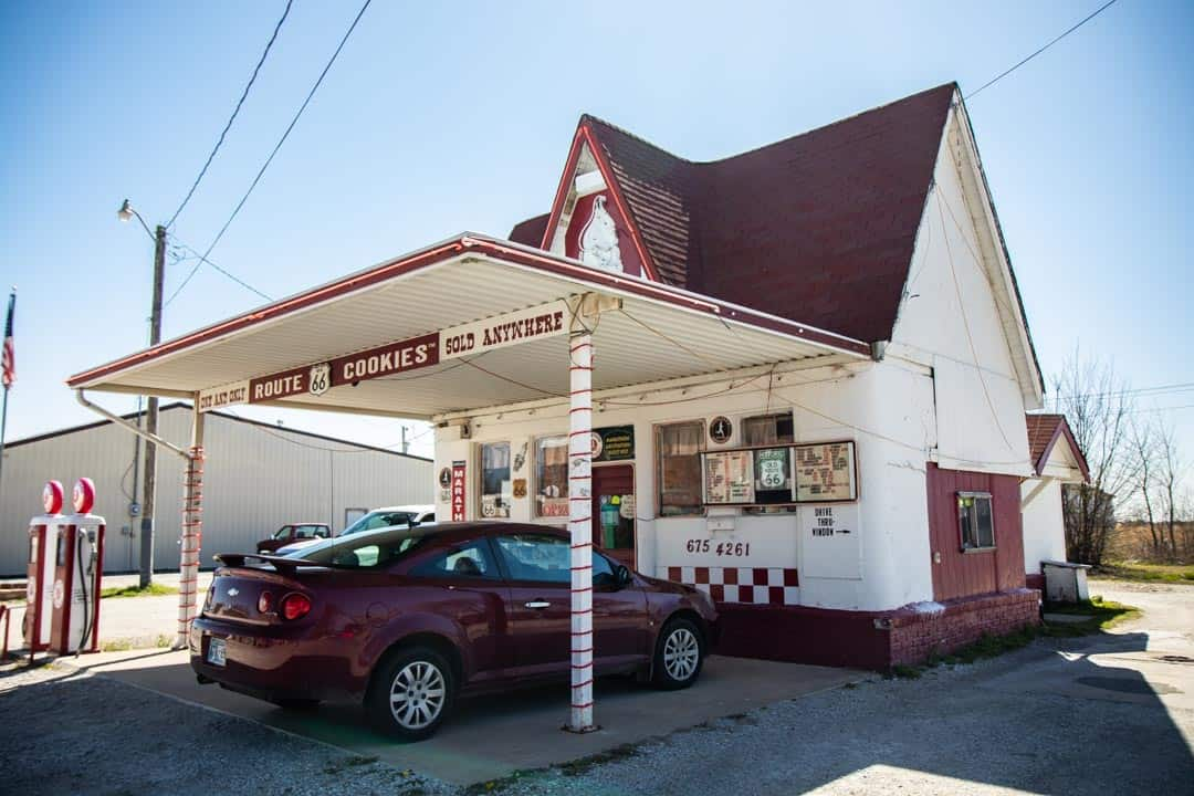 Dairy King On N. Main St. In Commerce, Oklahoma. It Was Originally a Service Station of the Marathon Gas Company.