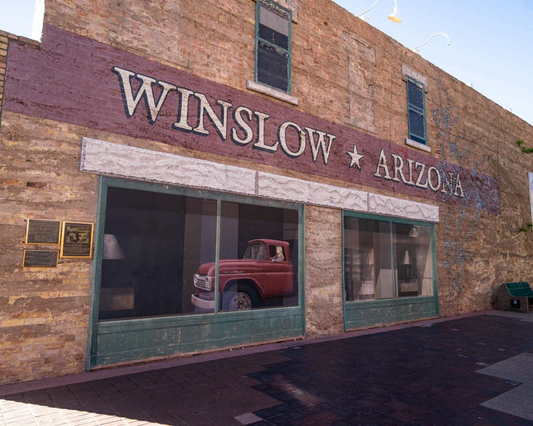 "The small town of Winslow, Arizona, was made famous by the Eagles song ""Take It Easy""."