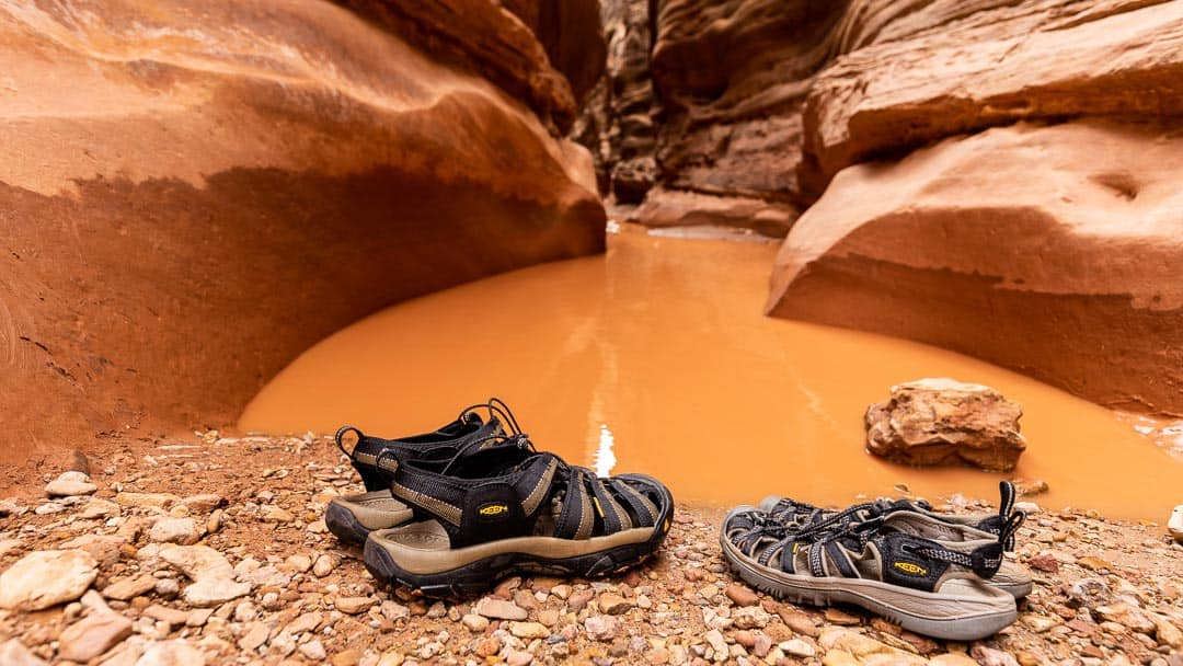 Have the right gear for hiking slot canyons in Utah