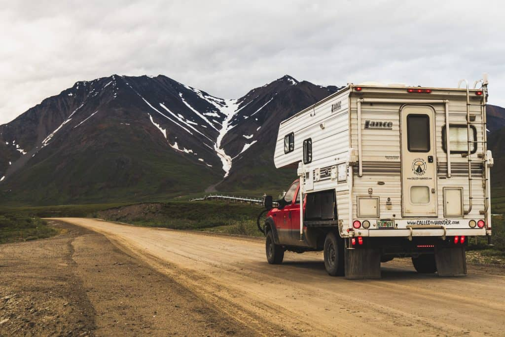 Much of the Dalton Highway is on graded gravel and dirt like this
