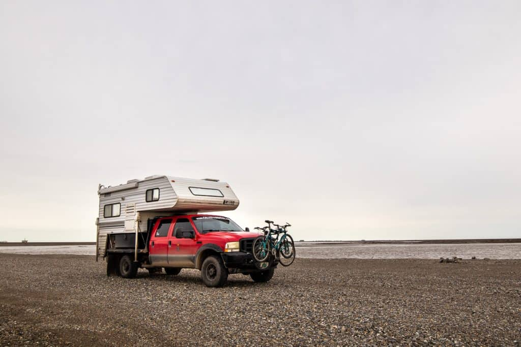 Boondocking in our rv at Deadhorse, Alaska