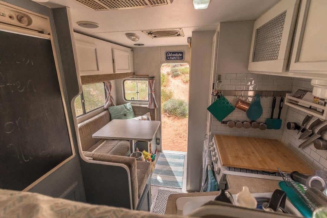 remodeled truck camper entire space