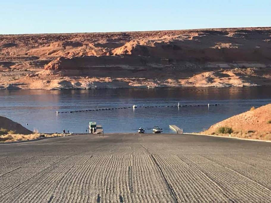 Boat ramp to kayak antelope canyon