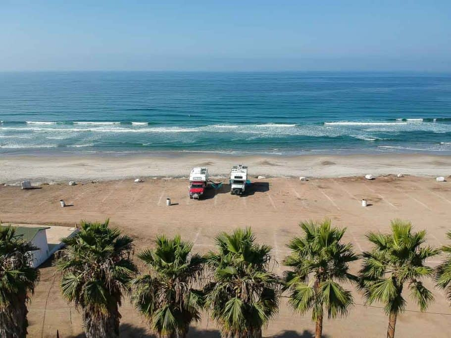 Camping in alisitos K58 surf camp