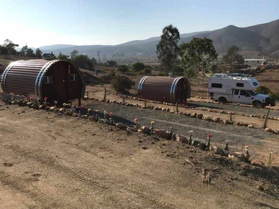 Camping in baja at Valle de Guadalupe