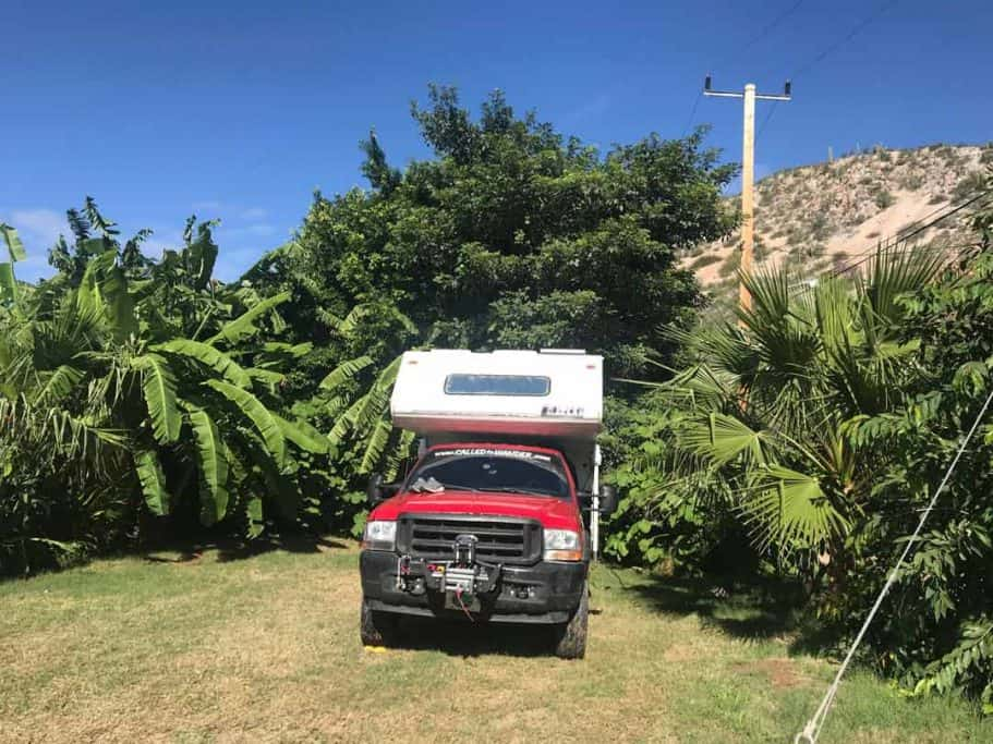 Baja camping at Don Chanos in Mulege