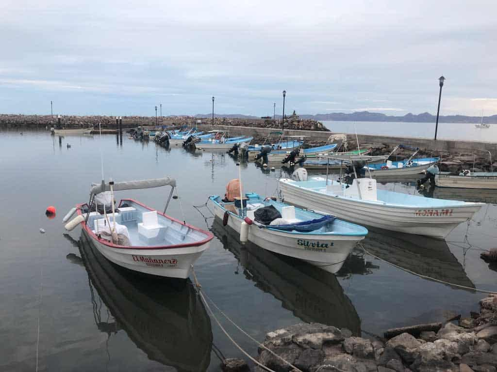 Fishing boats in Loreto
