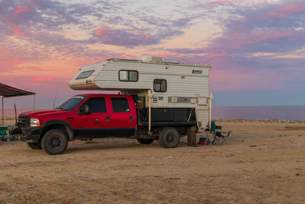 Beach Camping in a Dry Riverbed (Arroyo)