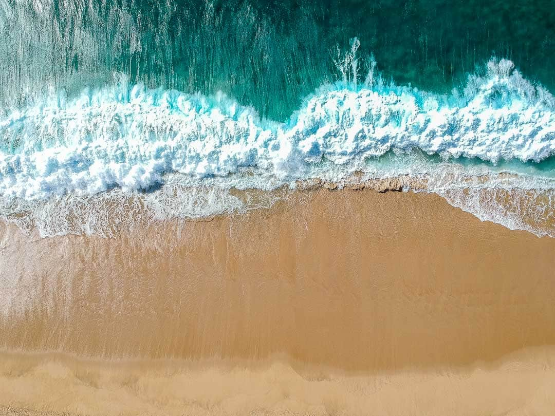 Drone view of waves