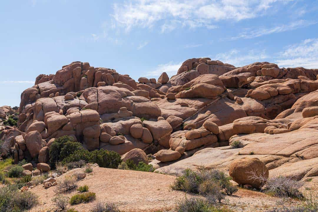 Boulder formations in Joshua Tree