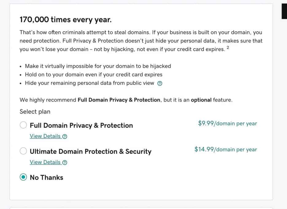 Opt out of services like Domain Privacy