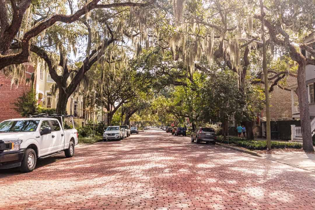 One day in savannah itinerary has views like these of Jones Street