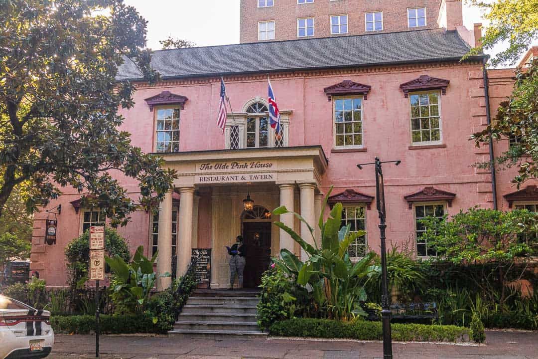 A one day Savannah itinerary could include a tasty meal at the Olde Pink House