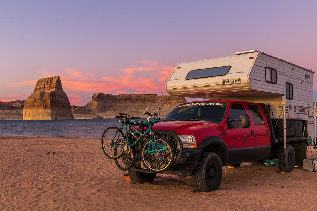 Camping at Lone Rock Beach Campground