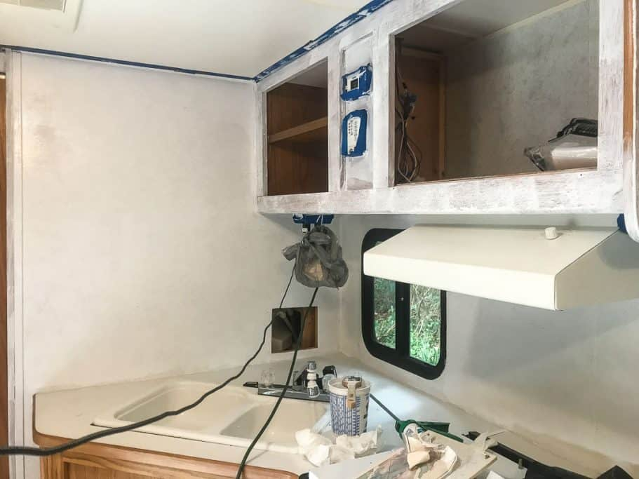 When you paint RV walls it is important to sand and prime