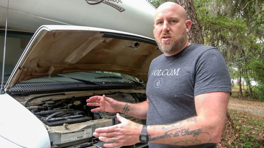 Check the engine before buying a used RV