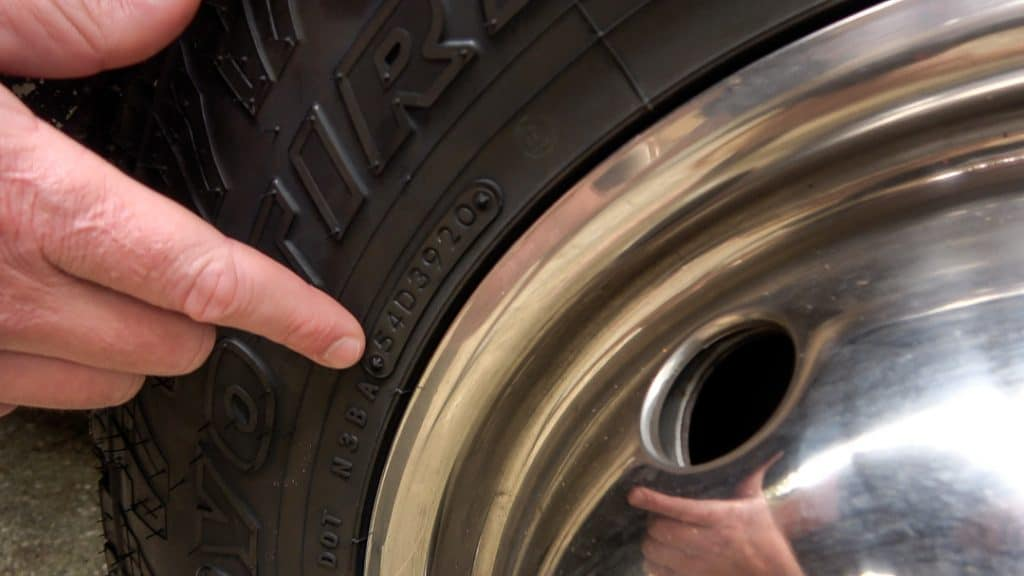 Checking the date of tire manufacturing when buying a used RV
